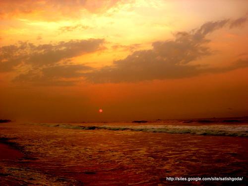 ocean india beach sunrise vizag