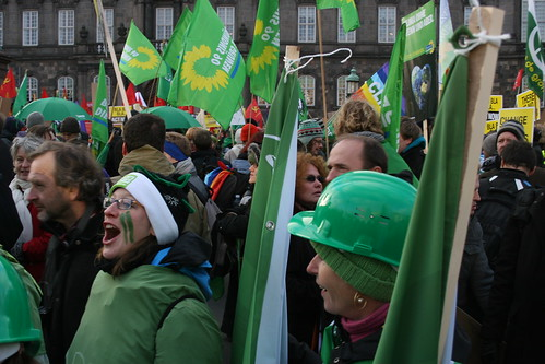 Green bloc at the Copenhagen climate demo_full voice
