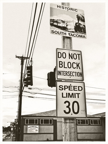 Historic South Tacoma sign
