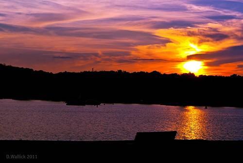 sunset reflection minnesota silhouette wisconsin river bench colorful border stcroix hudson riverfront picnik lightroom a230