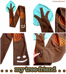 My Tree Friend fleece scarf