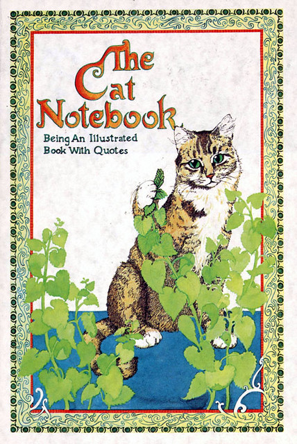 Vintage 1981 Cat notebook blank journal