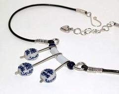 Asian Porcelain necklace