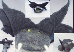 clothing(0.0), art(1.0), textile(1.0), plush(1.0), stuffed toy(1.0), bat(1.0), toy(1.0),