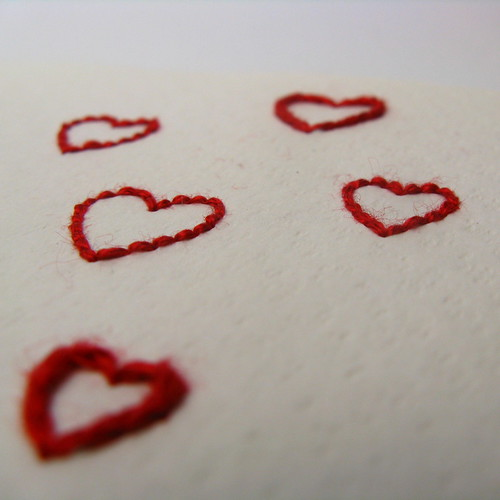 #286 - Embroidered Hearts for Matt