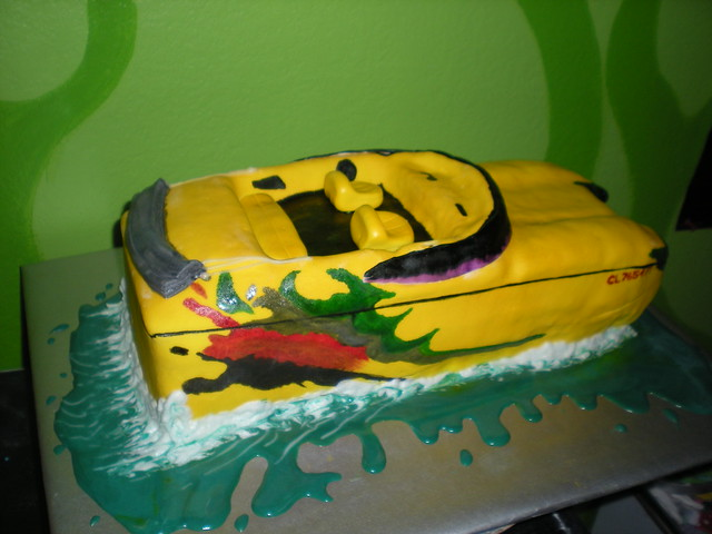 Speed Boat Cake http://www.flickr.com/photos/14369491@N03/4070885282/