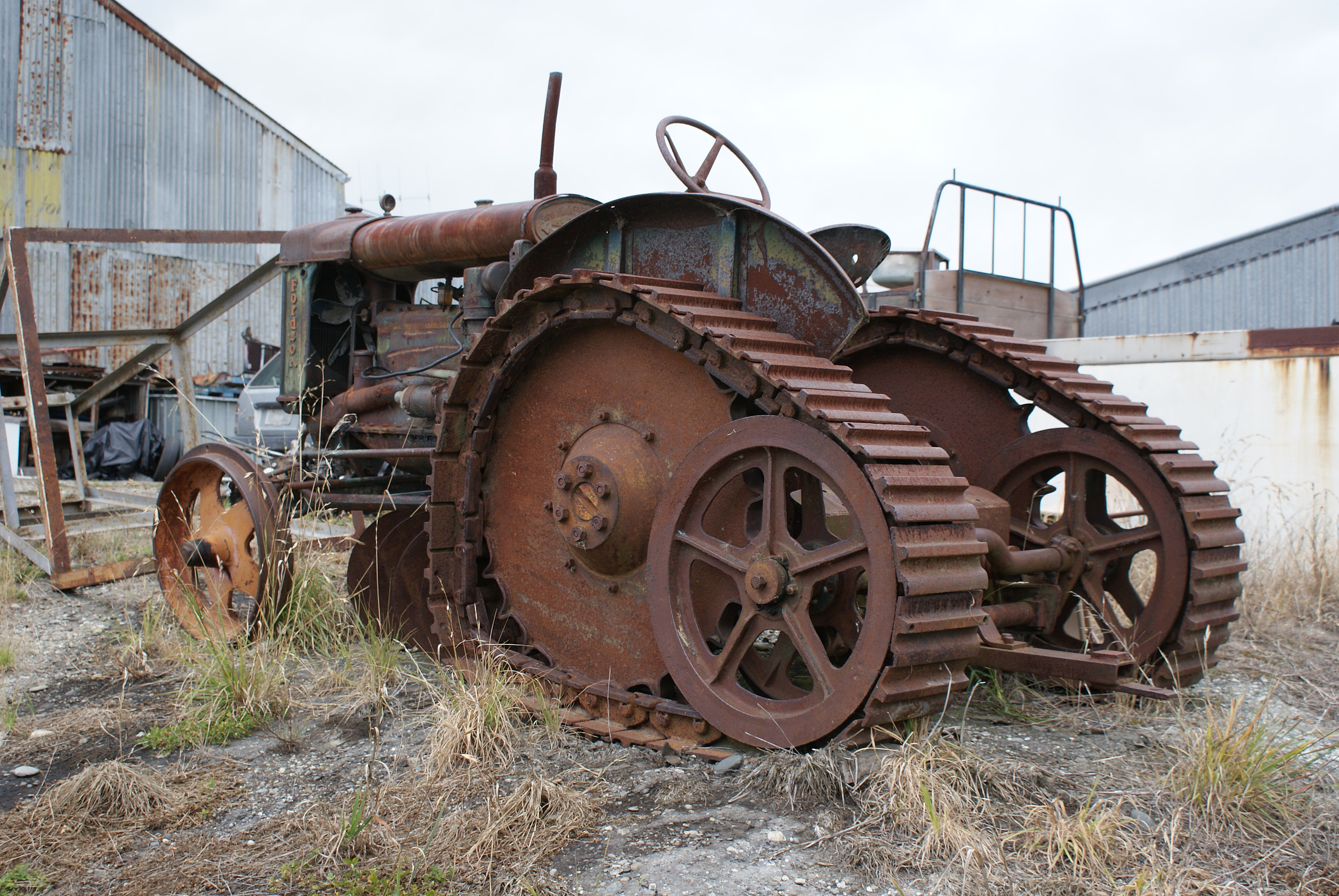 Old Tractor With Tracks : Fordson major e n roadless half track a photo on