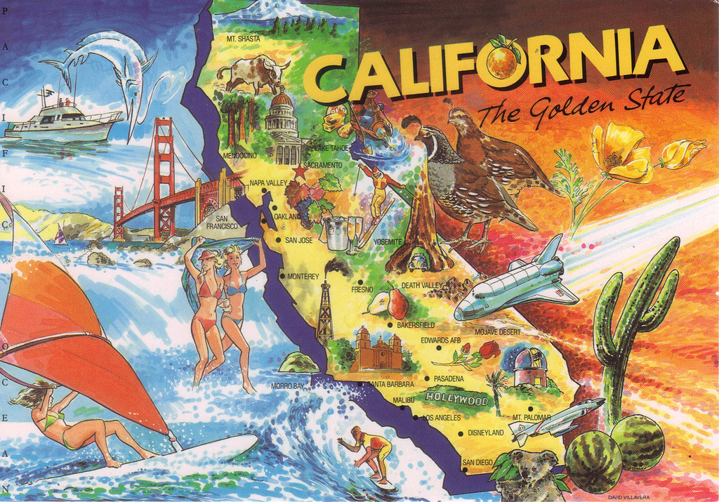 California Map Cartoon.California Cartoon Map I Received This From Mejulia For Th Flickr