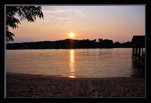 sunset lake water nc northcarolina lakenorman imagebydesignworks
