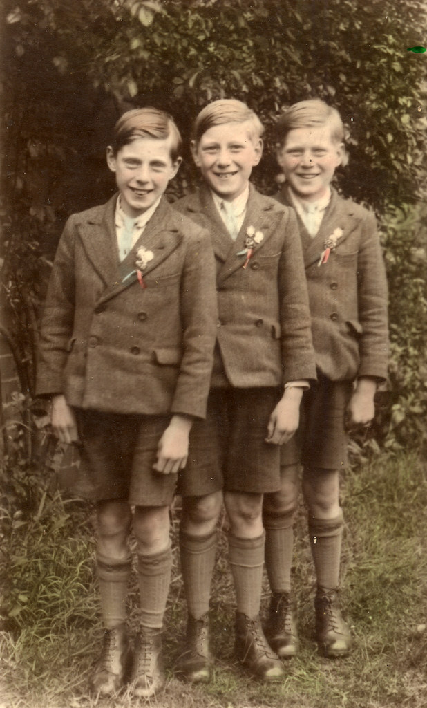 Three lads in school uniform
