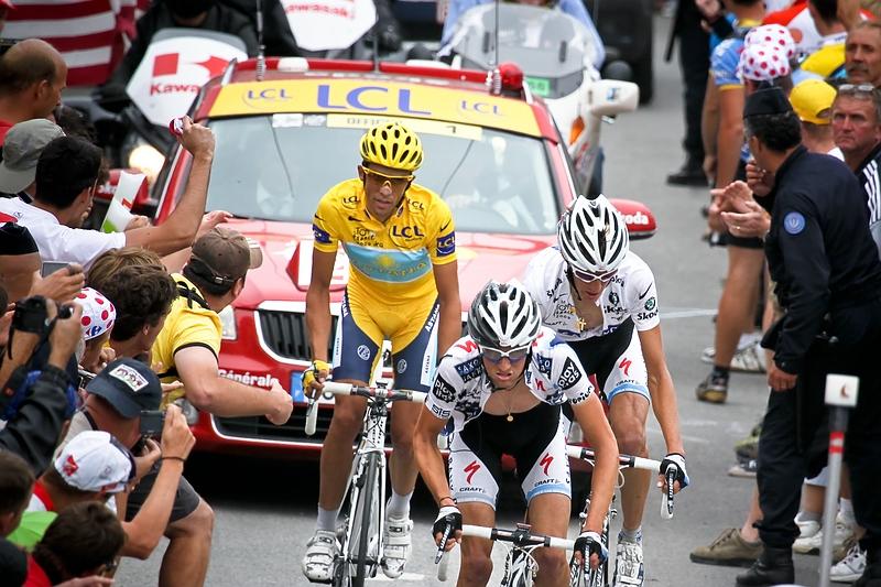 Franck Schleck, Andy Schleck, Alberto Contador