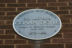 Photo of Arthur Conan Doyle blue plaque