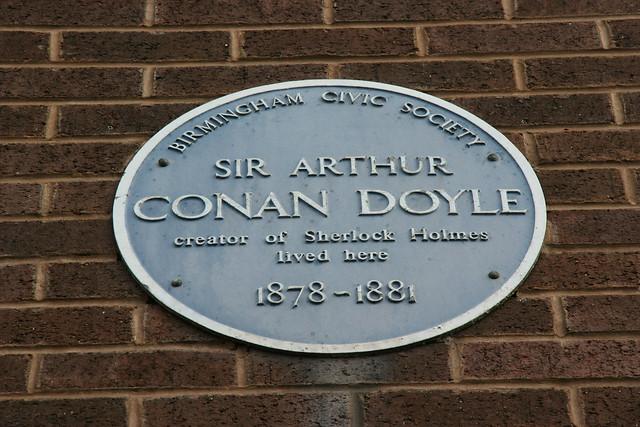 Photo of Arthur Conan Doyle blue plaque