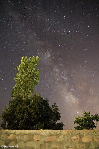 sky cloud tree wall night canon way landscape star iran sigma astro galaxy astrophotography astronomy iranian 1770 milky kurdistan sanandaj kavan kordestan 400d