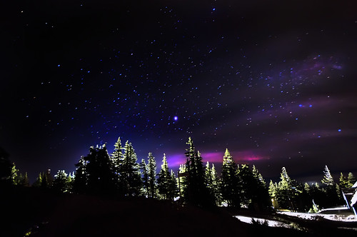 Starry night on Mt Hood