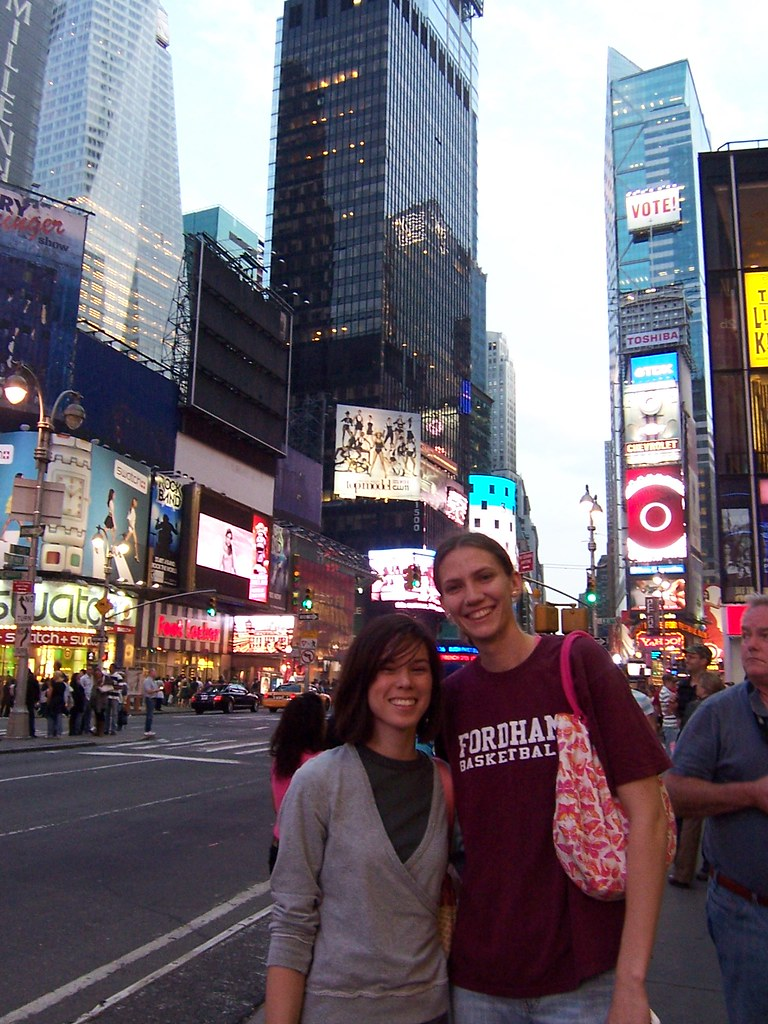 anna & carissa in times square