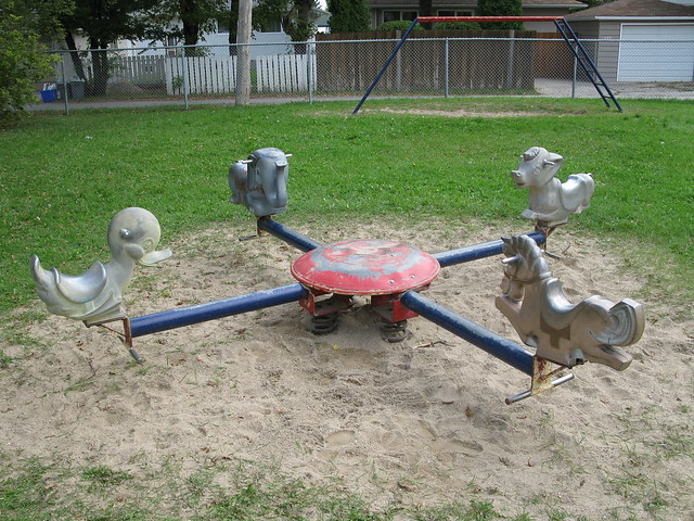 Old playground equipment spring toy flickr photo sharing