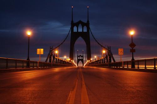 street bridge oregon portland dawn lights gi stjohnsbridge nxt