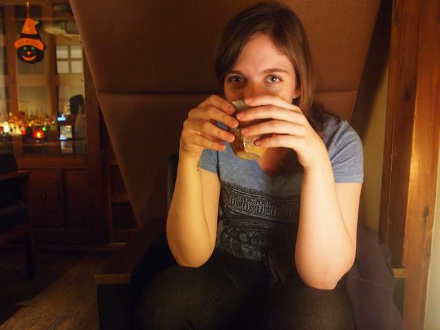 Drinking umeshu