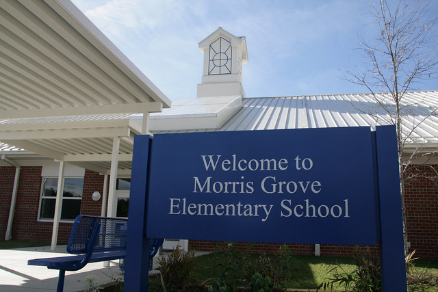 Morris Grove Elementary Entrance Sign Flickr Photo