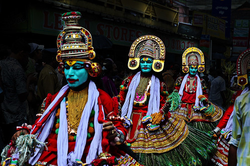 Best Kerala Photograph Live at Attachamayam at Onam time  in Color - The Power of Three !