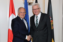 Kretschmann empfängt Schweizer Bundesrat Schneider-Ammann