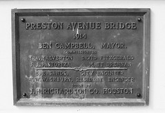 Preston Avenue Bridge over Buffalo Bayou, Houston, Texas 0801090943BW
