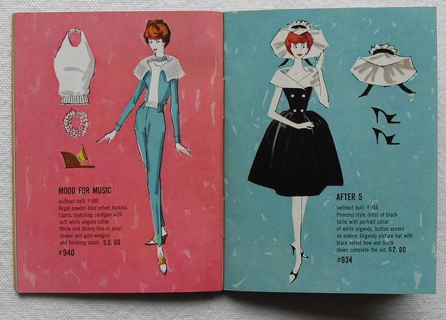 Barbie and Ken 1961 Mattel Vintage Fashion Illustration Catalogs 1960s (4)