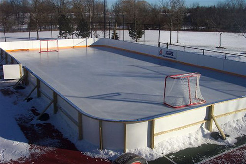 backyard ice rink liner makes great backyard hockey rink liners