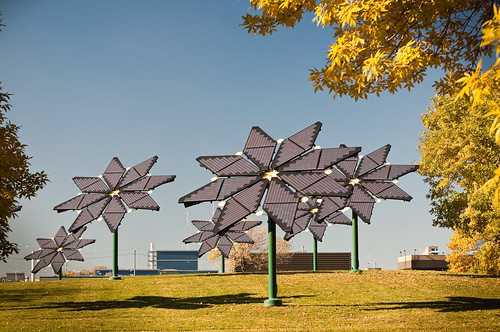 Flower Shaped Solar Panels