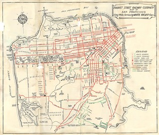 Market Street Railway Map of San Francisco: City-Wide Service by White Front Cars (March 15, 1939)