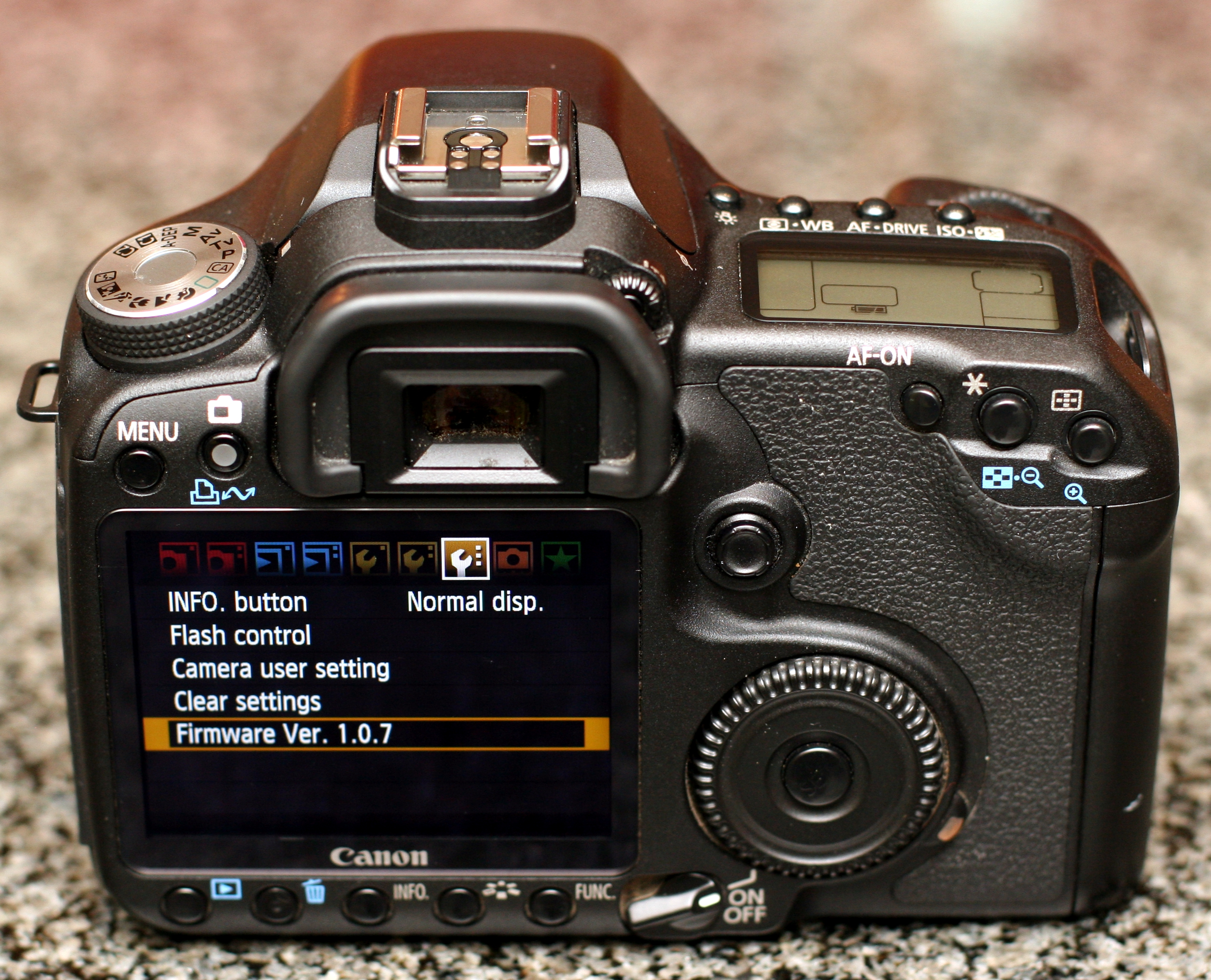 photo: rear view canon eos 50d dslr body for sale - by