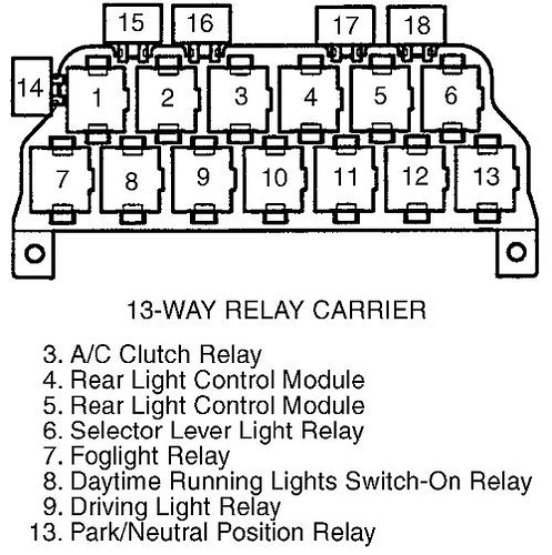 b5 audi a4 relay diagram relay diagram