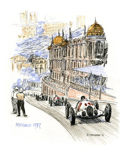GP de Monaco 1937 by Automobiliart
