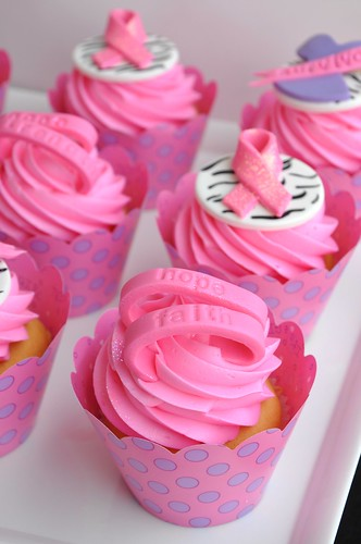 Breast Cancer Awareness Cupcake by The Cake Mamas