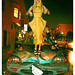 "Rhyan Hamilton Wears a ""Pleated Larva Dress"" by Domonique Echeverria atop a Smunched Mid Nineties Teal Honda Compact with Stuffed Mountain Goat and Two Golden Skulls Around 2am in The Mission, San Francisco 2013 by merkley???"