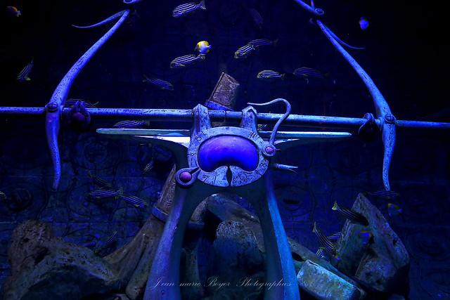 Aquarium hôtel Atlantis Dubaï.