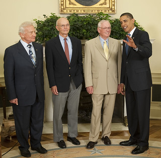 President Obama Meets with Crew of Apollo 11  (200907200016HQ)  (explored)