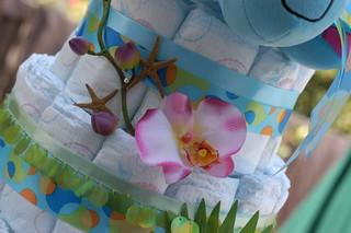 Aloha Diaper Cake