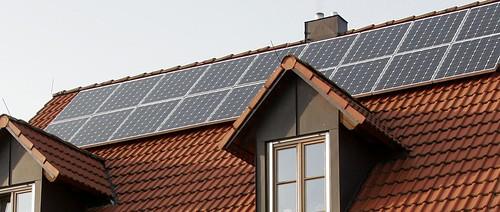 Techo solar en una casa unifamiliar