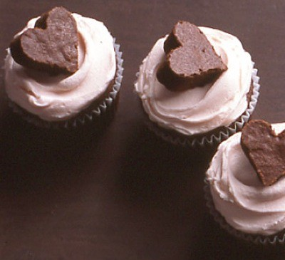Martha Stewart Brownie Heart Cupcakes