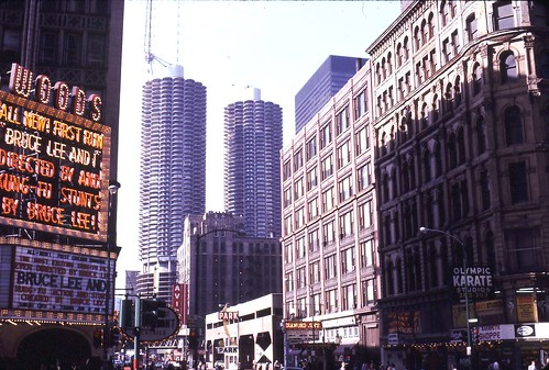 corner of Dearborn and Randolph in the 1970s