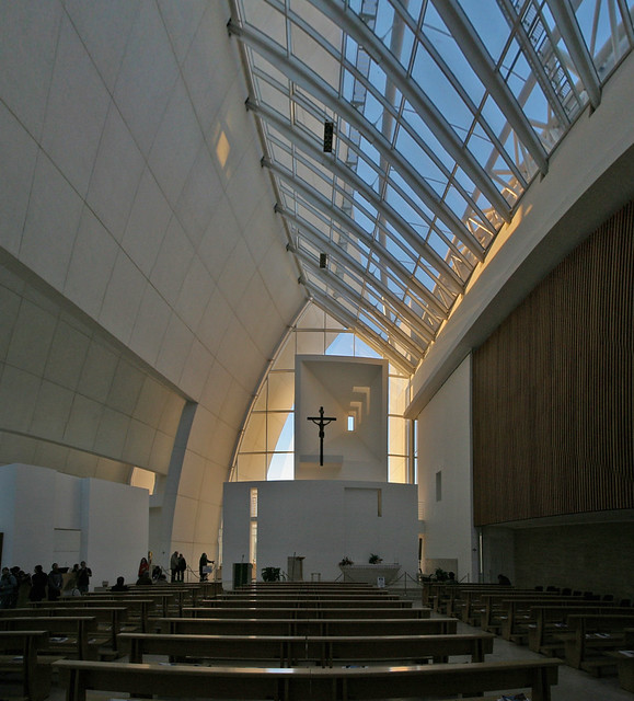 Tor Tre Teste near Rome Italy, Jubiliee 2000 Church Padre Dio Misericordia designed by Richard Meier