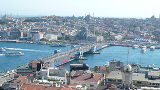 Galata Bridge from the Galata Tower