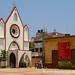 Church, Blue Sky - Pondicherry, India