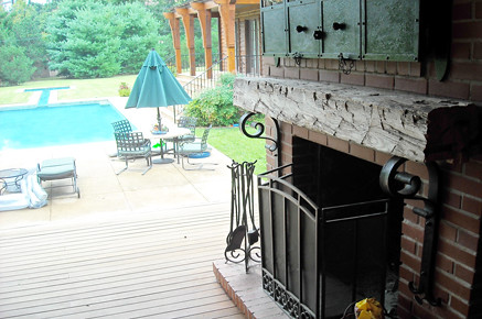 Mantel-Reclaimed Wood-Outdoor Living Area-Pool1 - Flickriver: Random Photos From Timberandbeam