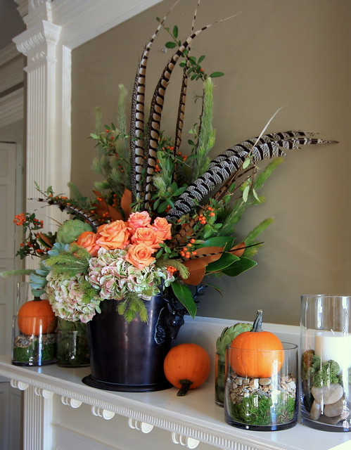 fall mantle arrangement photography - photo #4