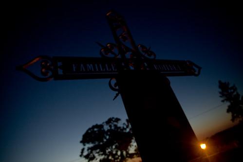 sunset france church graveyard europa europe cross religion nightlife morvan ozolles