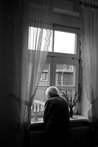 Senior in a nursing home