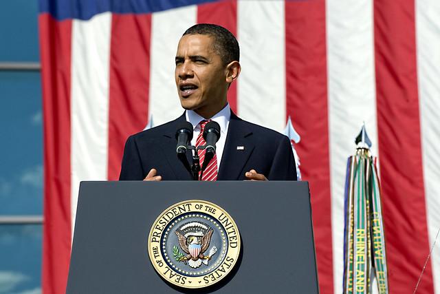 President Barack Obama speaks at Fort Hood memorial ceremony